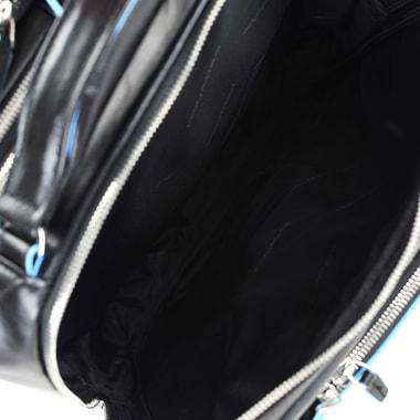 Кожаный дорожный портфель-трансформер с плечевыми лямками Piquadro