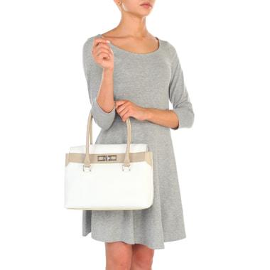Женская кожаная сумка с длинными ручками Chatte