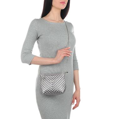 Женская сумочка из металлизированной кожи Marina Creazioni