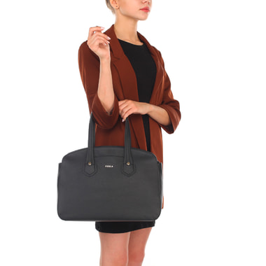 Женская кожаная сумка с длинными ручками Furla