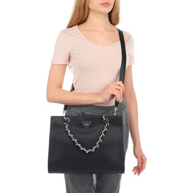 Женская черная сумка Guess