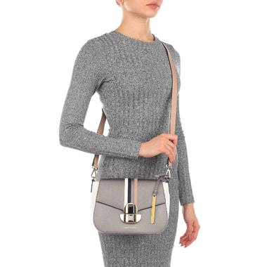 Сафьяновая сумочка с плечевым ремешком Cromia