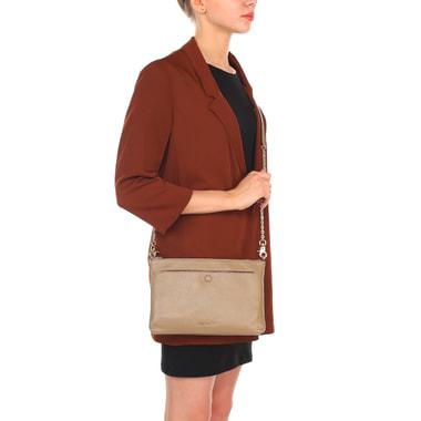 Женская кожаная сумочка на цепочке через плечо Coccinelle