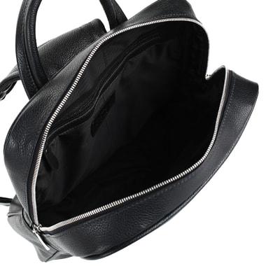 Кожаный мужской рюкзак на двойной молнии Stevens