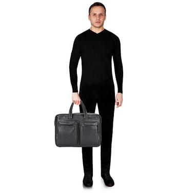 Мужская кожаная деловая сумка Stevens