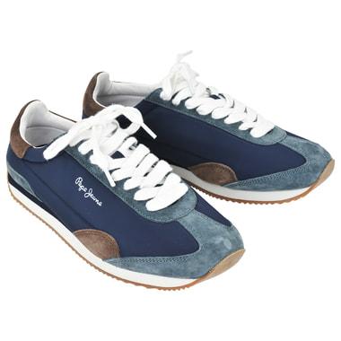 Мужские комбинированные кроссовки на шнуровке Pepe Jeans London