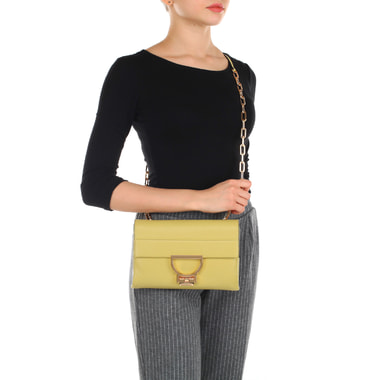 Маленькая сумочка кросс-боди из натуральной кожи Coccinelle