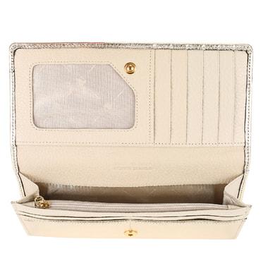 Женское портмоне из золотистой кожи Chatte