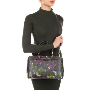 Женская кожаная сумка с принтом Gilda Tonelli