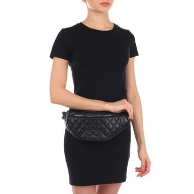 Женская черная поясная сумка Love Moschino