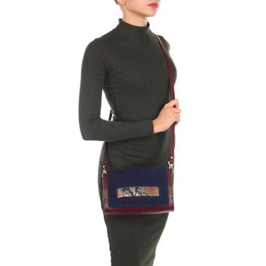 Маленькая кожаная сумка со съемным плечевым ремешком Carlo Salvatelli