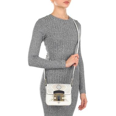 Белая сафьяновая сумочка Cromia
