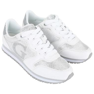 Белые женские кроссовки Guess