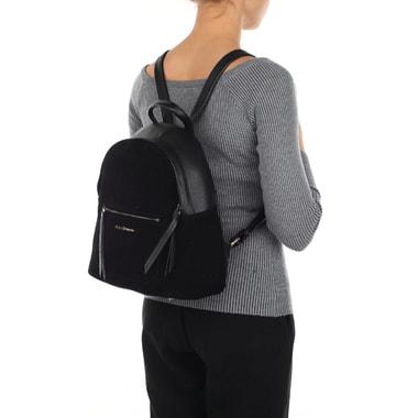 Черный женский рюкзак из натуральной кожи и замши Fiato Dream