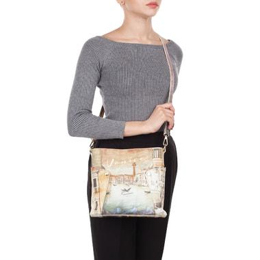 Кожаная сумка кросс-боди с принтом Acquanegra