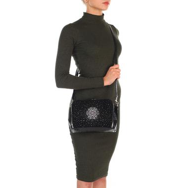 Женская сумочка из комбинированной кожи через плечо Gilda Tonelli