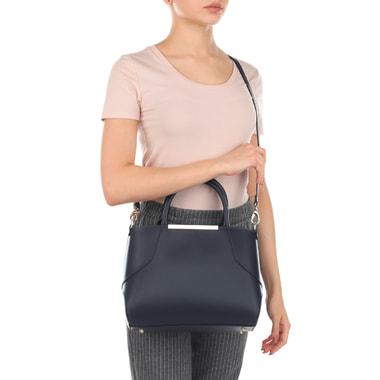 Синяя женская сумка из натуральной кожи Ripani
