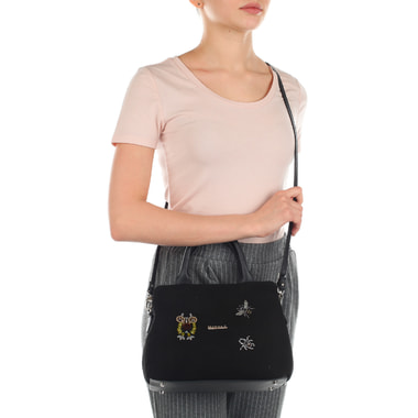 Женская сумочка из кожи и замши с двумя отделами Marina Creazioni