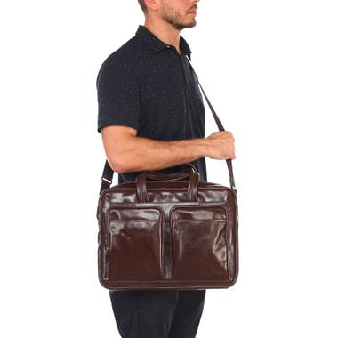 Мужская деловая сумка из натуральной кожи Stevens