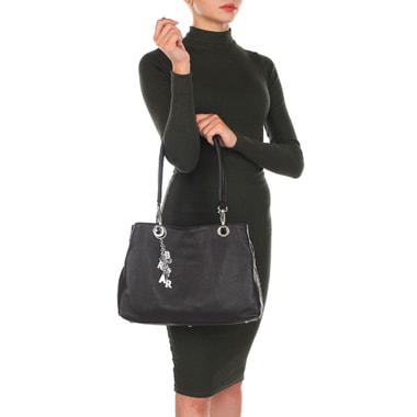 Вместительная кожаная сумка с тремя отделами Sara Burglar