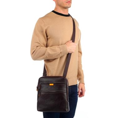 Мужская сумка-планшет из коричневой кожи Stevens