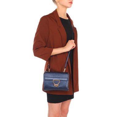 Женская сумочка из металлизированной кожи через плечо Coccinelle