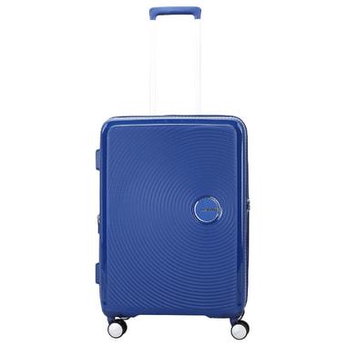 Синий чемодан на колесах American Tourister