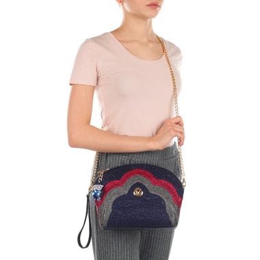 Женская кожаная сумочка с плечевой цепочкой Valentino Orlandi