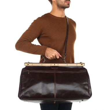 Кожаная винтажная сумка-саквояж Stevens