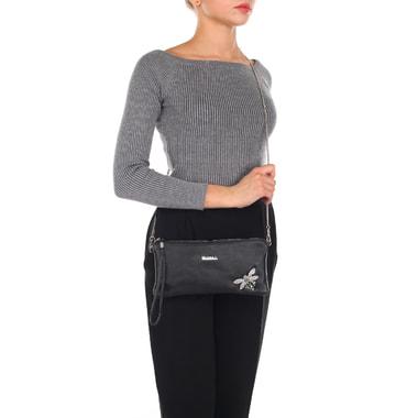 Маленькая кожаная сумка со съемным ремешком в виде цепочки Marina Creazioni