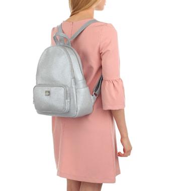 Женский городской рюкзак из металлизированной кожи Chatte