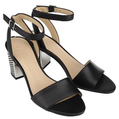 Черные женские босоножки на каблуке Guess