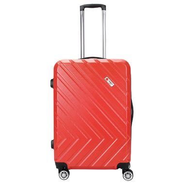 Красный чемодан на колесах Global Case