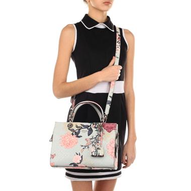 Женская сумка с цветочным принтом Guess