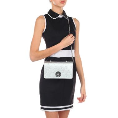 Серебристая женская сумочка с плечевой цепочкой Sara Burglar
