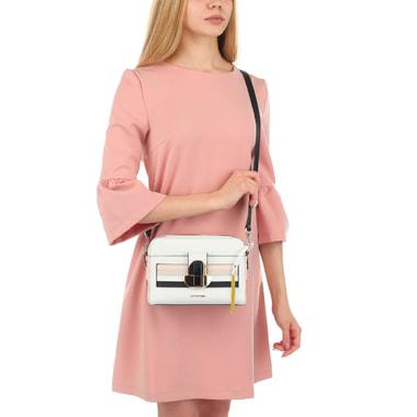 Женская сумочка из сафьяна с двумя отделами Cromia