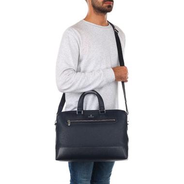 Мужская деловая сумка из комбинированной кожи Mayrhoff