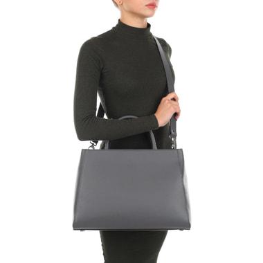 Вместительная женская сумка из натуральной сафьяновой кожи Chatte