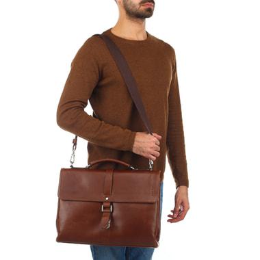Мужской портфель из коричневой кожи Picard