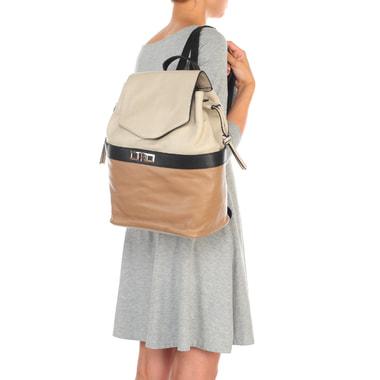 Вместительный женский рюкзак из комбинированной кожи Chatte