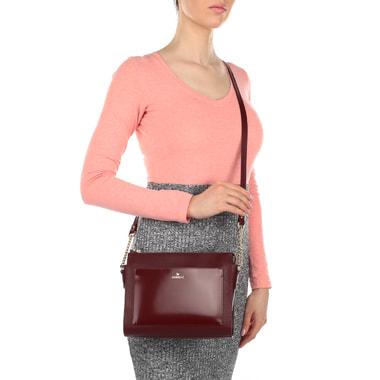 Женская сумочка из бордового сафьяна Aurelli