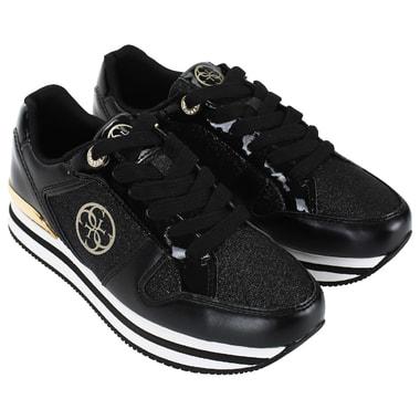 Женские черные кроссовки на платформе Guess
