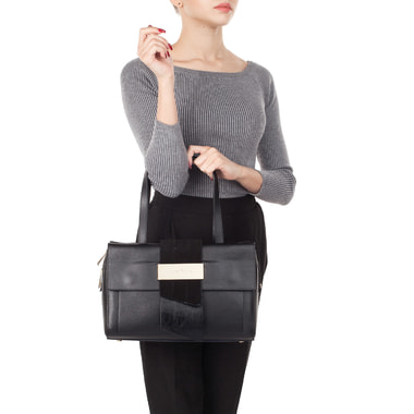 Женская кожаная сумка с длинными ручками Fabrizio Poker