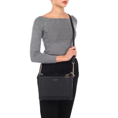 Женская сумка из натуральной сафьяновой кожи DKNY