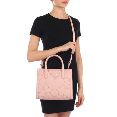 Женская розовая сумочка Love Moschino