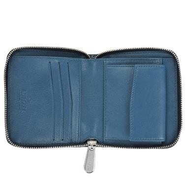 Кожаное лаковое портмоне с выделкой под рептилию Aurelli