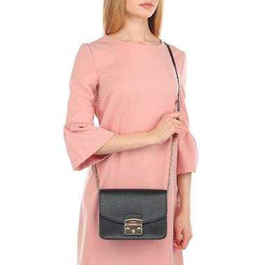 Женская сумочка из черной кожи Furla