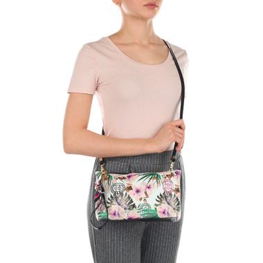 Кожаная женская сумочка с ремешком для запястья Marino Orlandi