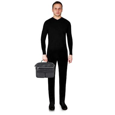Мужская кожаная деловая сумка Dr. Koffer