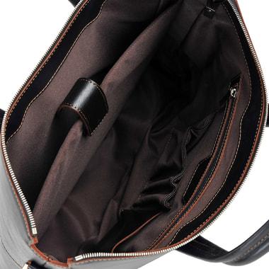 Вместительная мужская деловая сумка из натуральной кожи Stevens